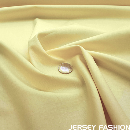 Organic cotton poplin pastel yellow - Toptex