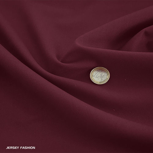 Wool gabardine burgundy red | Remnant piece 82cm