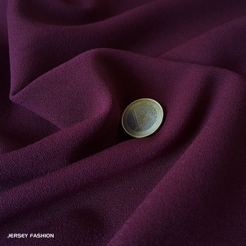 Stretch crepe fabric middle violet - Toptex | Remnant piece 117cm