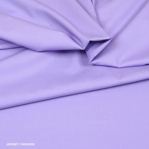 Stretch cotton poplin soft lavender | Remnant piece 138cm