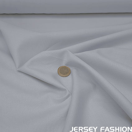 Organic cotton poplin light grey - Toptex