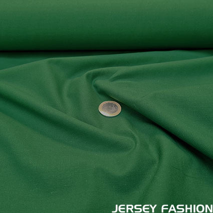 Organic cotton poplin emerald green - Toptex