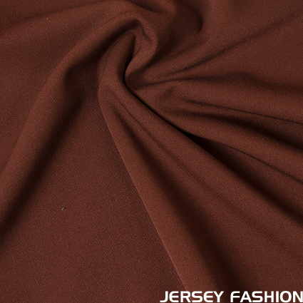 Stretch gabardine maroon brown