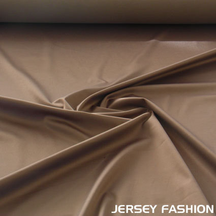 Toptex satin coton stretch taupe | Coupon 60cm