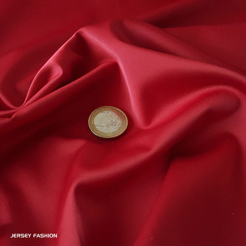 Toptex satin stretch rouge | Coupon 107cm