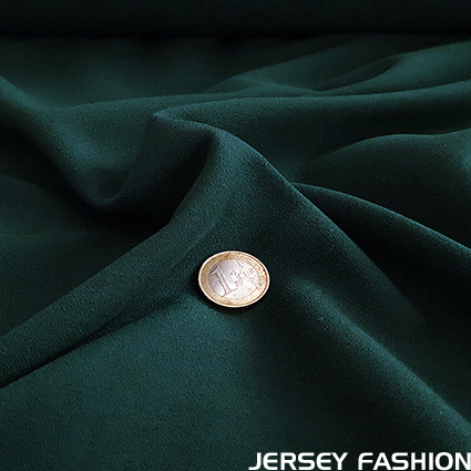 Stretch crepe fabric dark green - Toptex