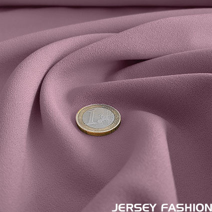 Stretch crepe fabric lilac - Toptex