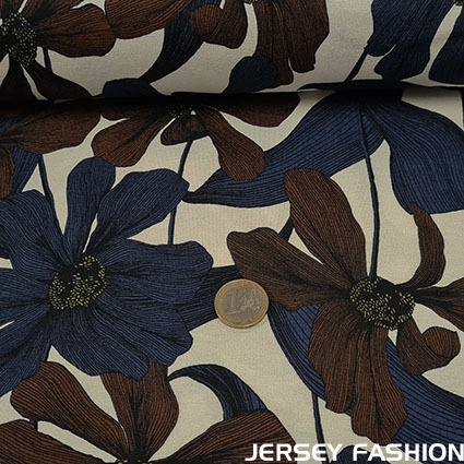 "Inkjet viscose jersey fabric ""Clematis"""