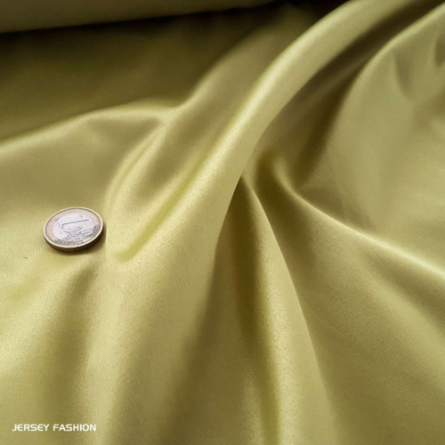 Toptex stretch cotton satin pear green | Remnant piece 103cm