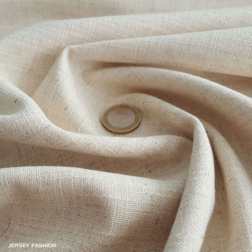 Stretch linen natural | Remnant piece 40cm
