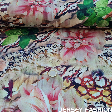 "Inkjet viscose jersey fabric ""Limoges"""