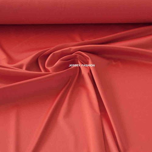 Toptex stretch cotton satin salmon orange | Remnant piece 50cm