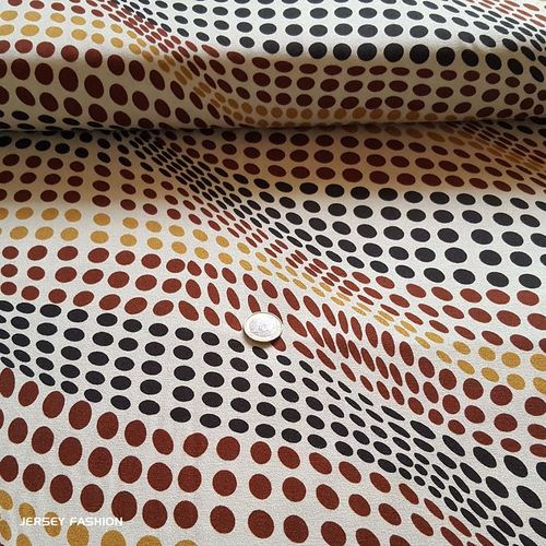 "Inkjet viscose jersey fabric ""Illusion"" 