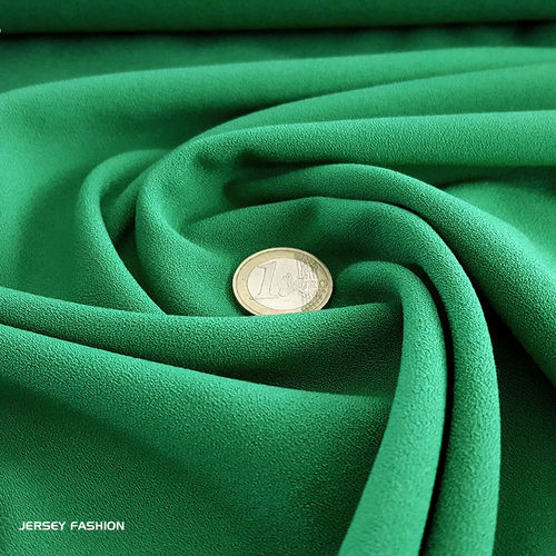 Fine stretch crepe emerald green - Toptex | Remnant piece 48cm