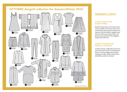 Ottobre Design Woman 2016 Herfst Winter | modellen
