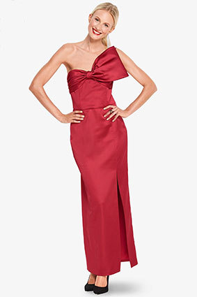Burda sewing pattern 6388A-DL | Satin evening dress