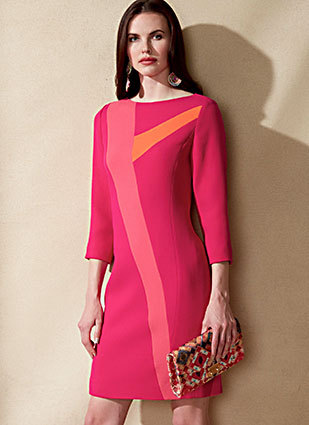 Schnittmuster Vogue V1555 (Rosa, Orange, Fuchsia)